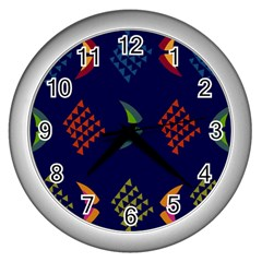 Abstract A Colorful Modern Illustration Wall Clocks (silver)