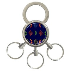 Abstract A Colorful Modern Illustration 3-Ring Key Chains