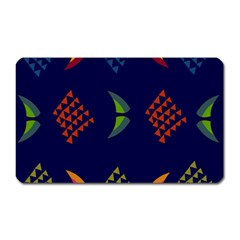 Abstract A Colorful Modern Illustration Magnet (Rectangular)