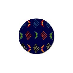 Abstract A Colorful Modern Illustration Golf Ball Marker (10 Pack)