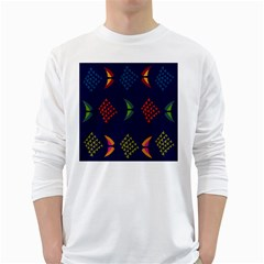 Abstract A Colorful Modern Illustration White Long Sleeve T-Shirts