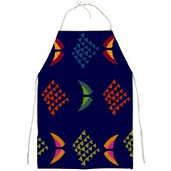 Abstract A Colorful Modern Illustration Full Print Aprons