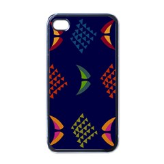 Abstract A Colorful Modern Illustration Apple Iphone 4 Case (black)