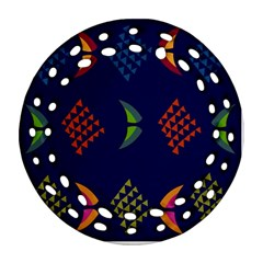 Abstract A Colorful Modern Illustration Ornament (round Filigree)