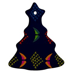 Abstract A Colorful Modern Illustration Ornament (christmas Tree)