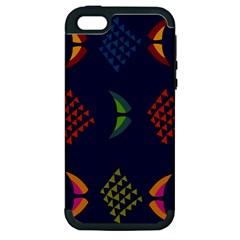 Abstract A Colorful Modern Illustration Apple Iphone 5 Hardshell Case (pc+silicone)