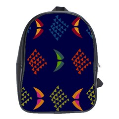 Abstract A Colorful Modern Illustration School Bags (XL)
