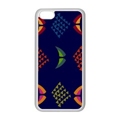 Abstract A Colorful Modern Illustration Apple iPhone 5C Seamless Case (White)