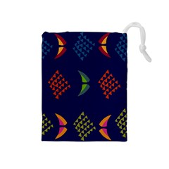 Abstract A Colorful Modern Illustration Drawstring Pouches (Medium)