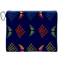 Abstract A Colorful Modern Illustration Canvas Cosmetic Bag (xxxl)