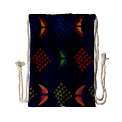 Abstract A Colorful Modern Illustration Drawstring Bag (small)