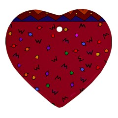 Red Abstract A Colorful Modern Illustration Ornament (heart)