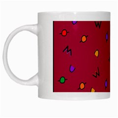 Red Abstract A Colorful Modern Illustration White Mugs