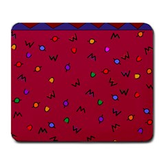 Red Abstract A Colorful Modern Illustration Large Mousepads