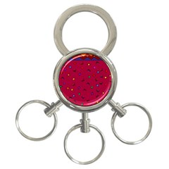 Red Abstract A Colorful Modern Illustration 3-Ring Key Chains