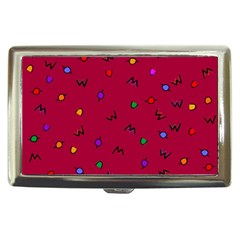 Red Abstract A Colorful Modern Illustration Cigarette Money Cases