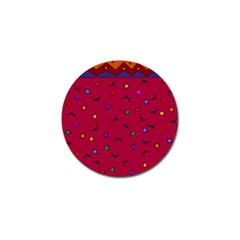 Red Abstract A Colorful Modern Illustration Golf Ball Marker (4 Pack)
