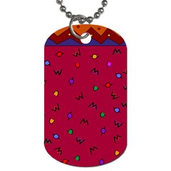 Red Abstract A Colorful Modern Illustration Dog Tag (two Sides)