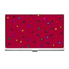 Red Abstract A Colorful Modern Illustration Business Card Holders