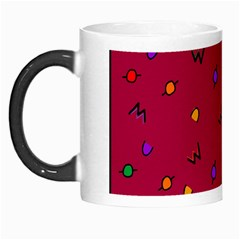 Red Abstract A Colorful Modern Illustration Morph Mugs