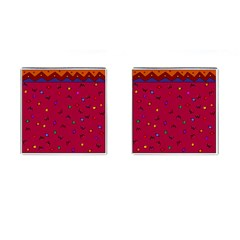 Red Abstract A Colorful Modern Illustration Cufflinks (square)