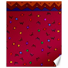 Red Abstract A Colorful Modern Illustration Canvas 8  X 10