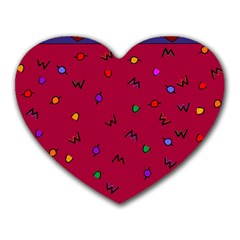 Red Abstract A Colorful Modern Illustration Heart Mousepads