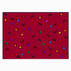 Red Abstract A Colorful Modern Illustration Large Glasses Cloth (2 Side)