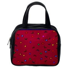 Red Abstract A Colorful Modern Illustration Classic Handbags (one Side)