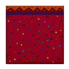 Red Abstract A Colorful Modern Illustration Face Towel
