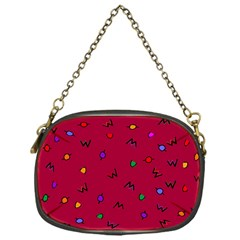 Red Abstract A Colorful Modern Illustration Chain Purses (one Side)
