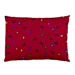 Red Abstract A Colorful Modern Illustration Pillow Case