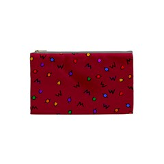Red Abstract A Colorful Modern Illustration Cosmetic Bag (small)