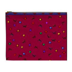 Red Abstract A Colorful Modern Illustration Cosmetic Bag (xl)