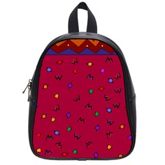 Red Abstract A Colorful Modern Illustration School Bags (small)