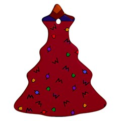Red Abstract A Colorful Modern Illustration Ornament (christmas Tree)