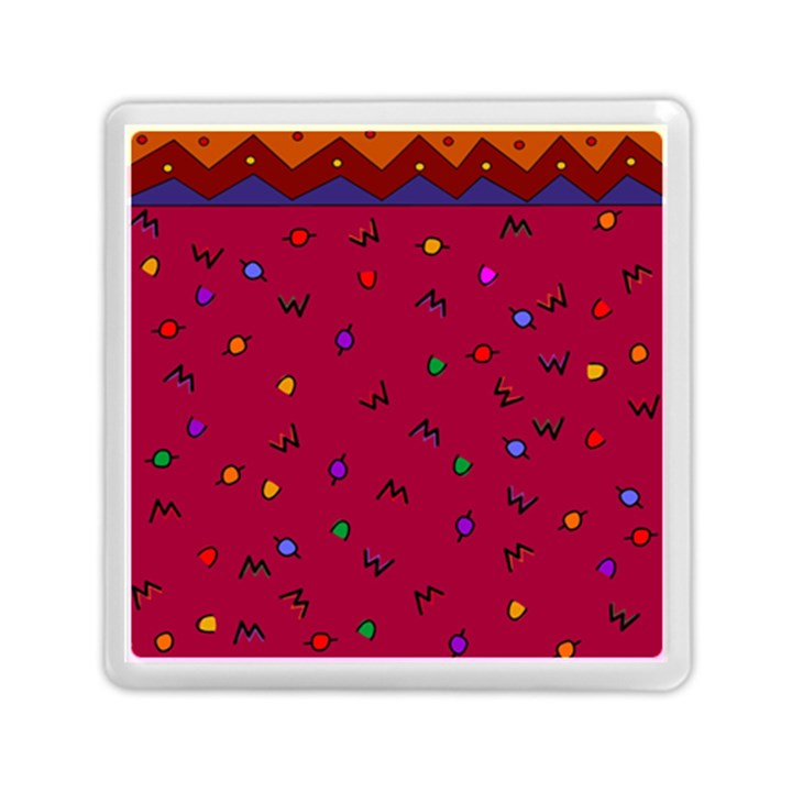 Red Abstract A Colorful Modern Illustration Memory Card Reader (Square)