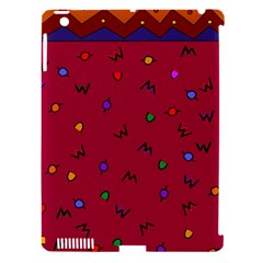 Red Abstract A Colorful Modern Illustration Apple iPad 3/4 Hardshell Case (Compatible with Smart Cover)