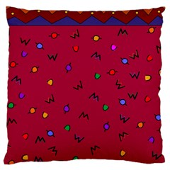 Red Abstract A Colorful Modern Illustration Large Cushion Case (two Sides)