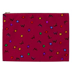 Red Abstract A Colorful Modern Illustration Cosmetic Bag (xxl)