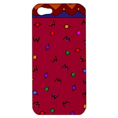 Red Abstract A Colorful Modern Illustration Apple Iphone 5 Hardshell Case