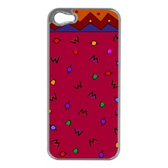 Red Abstract A Colorful Modern Illustration Apple iPhone 5 Case (Silver)