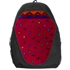 Red Abstract A Colorful Modern Illustration Backpack Bag