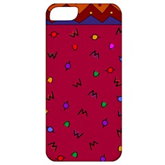 Red Abstract A Colorful Modern Illustration Apple iPhone 5 Classic Hardshell Case