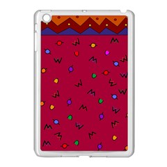 Red Abstract A Colorful Modern Illustration Apple iPad Mini Case (White)