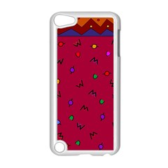 Red Abstract A Colorful Modern Illustration Apple iPod Touch 5 Case (White)