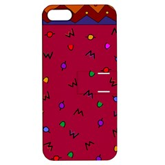 Red Abstract A Colorful Modern Illustration Apple Iphone 5 Hardshell Case With Stand
