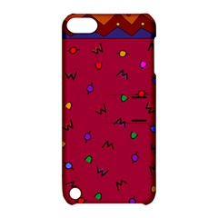 Red Abstract A Colorful Modern Illustration Apple iPod Touch 5 Hardshell Case with Stand