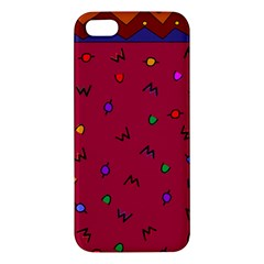 Red Abstract A Colorful Modern Illustration Apple iPhone 5 Premium Hardshell Case