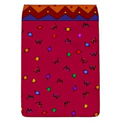 Red Abstract A Colorful Modern Illustration Flap Covers (L)